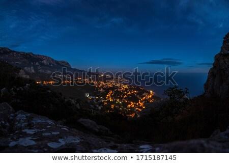 山 · 谷 · 幽霊 · 空 · 雲 · 風景 - ストックフォト © dashapetrenko