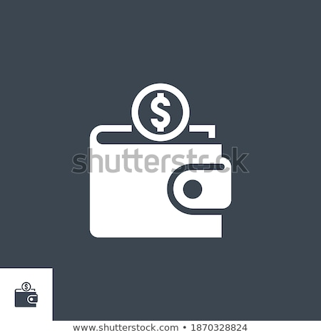 on wallet related vector glyph icon stock photo © smoki