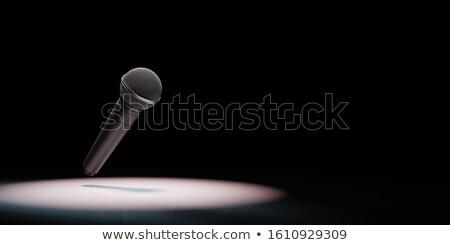 металлический микрофона черный 3d иллюстрации копия пространства свет Сток-фото © make