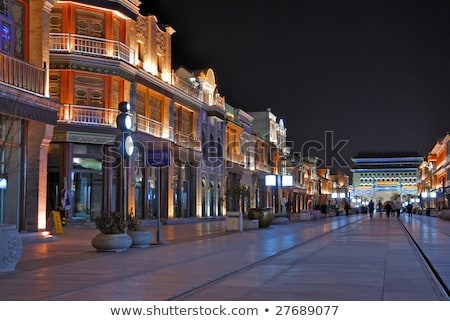 Kína Peking öreg vásárlás utca utcák Stock fotó © galitskaya