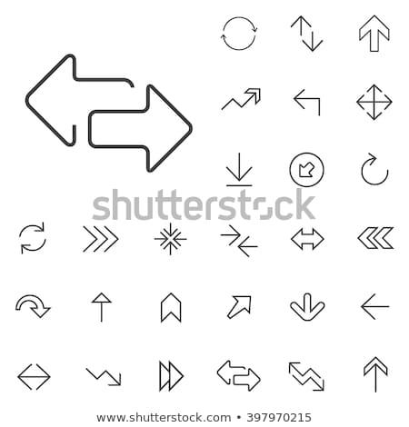 Pijl lijn web iconen richting schets Stockfoto © Anna_leni