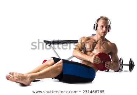 Jonge gespierd shirtless mannelijke atleet Stockfoto © pressmaster