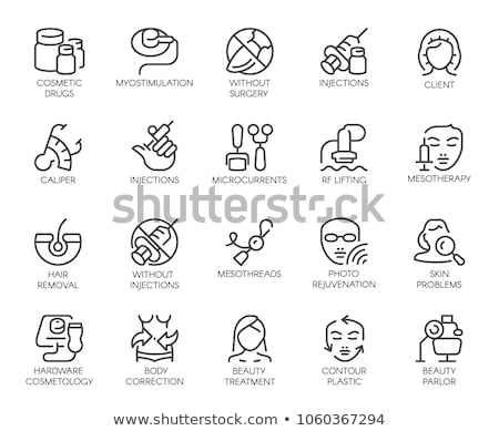 skin restoration icon vector outline illustration Stock photo © pikepicture