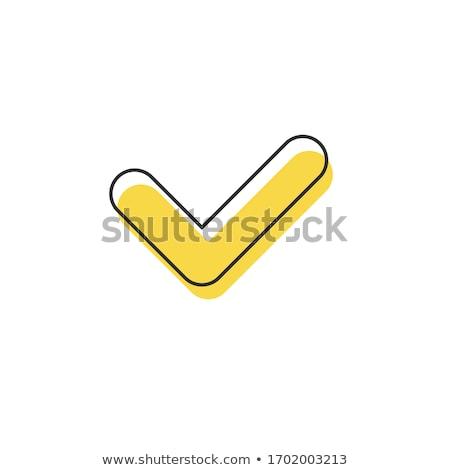 Lineair controleren icon schets lijst Stockfoto © kyryloff