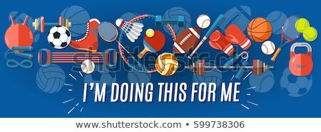 Tennis sport spel ingesteld wedstrijd banner Stockfoto © pikepicture