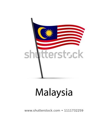 マレーシア フラグ ポール インフォグラフィック 白 ストックフォト © evgeny89
