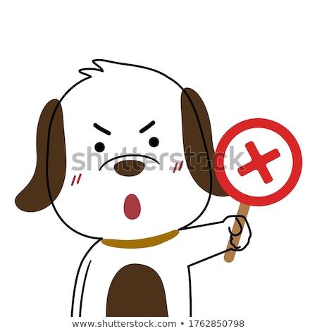 нет · домашние · красный · белый · собака - Сток-фото © ansonstock