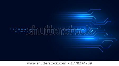 Technológiai áramkör vonalak diagram kék szín Stock fotó © SArts