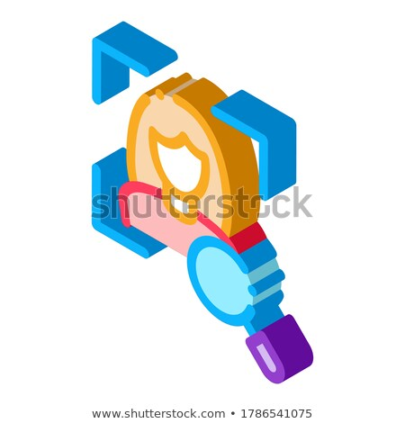 Woman Identity Check isometric icon vector illustration Stock photo © pikepicture