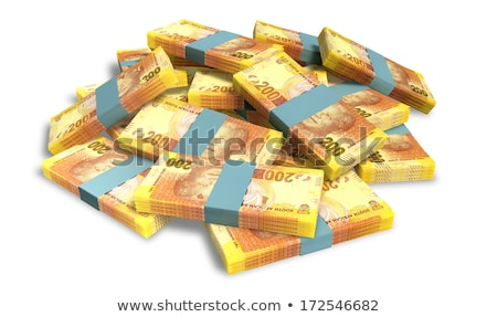 Scattered South African Rand Banknote Pile Stock photo © albund