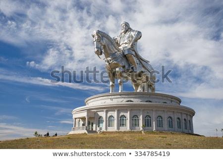 Heykel uzay Asya oturma siyaset şok Stok fotoğraf © joyr