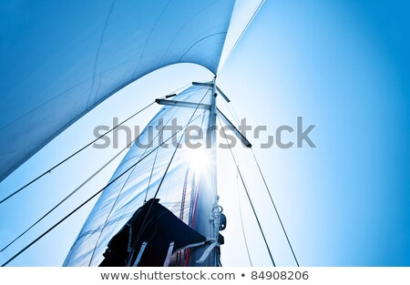 Sail over blue sky Stock photo © Anna_Om
