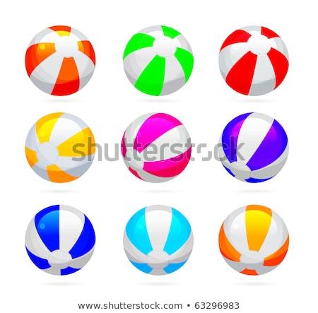 ビーチボール 色 セット スポーツ ストックフォト © m_pavlov
