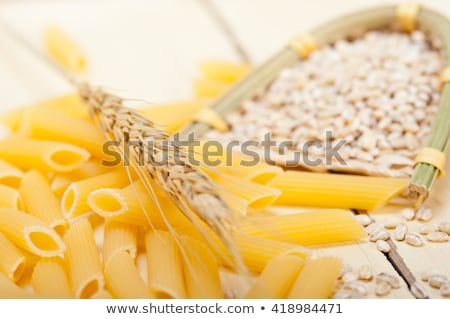 raw organic italian pasta  stock photo © sielemann