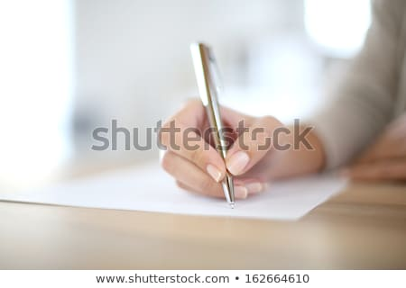 Woman hand writing with pen stock photo © Rebirth3d