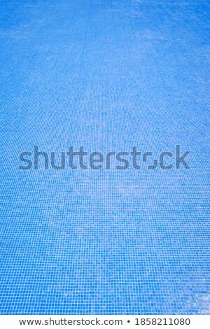 Blu piastrelle piscina fondo luminoso Foto d'archivio © pixelsnap