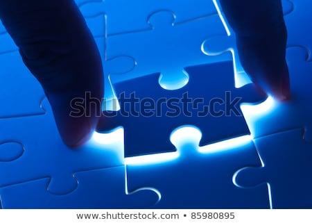 witte · licht · business · Blauw · puzzel - stockfoto © ansonstock