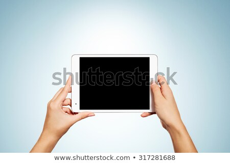 Generic Tablet Computer and book Stock photo © adamr