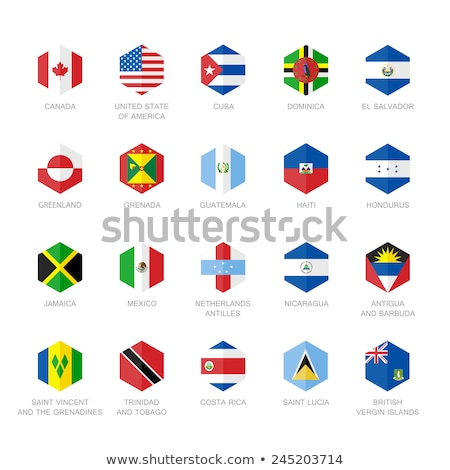 Foto stock: Vector · banderas · norte · central · América · establecer