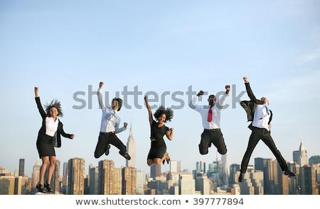 恍惚とした ビジネスマン ノートパソコン 男 幸せ モデル ストックフォト © leeser
