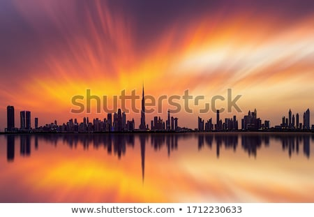 Stock photo: Dubai downtown at night
