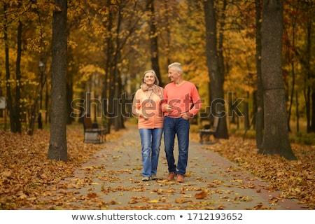 jesienią · spacer · człowiek · objętych · charakter - zdjęcia stock © photography33