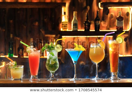 Stock fotó: Coctail Drinking