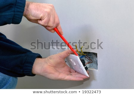 Men fitting electrical sockets Stock photo © photography33