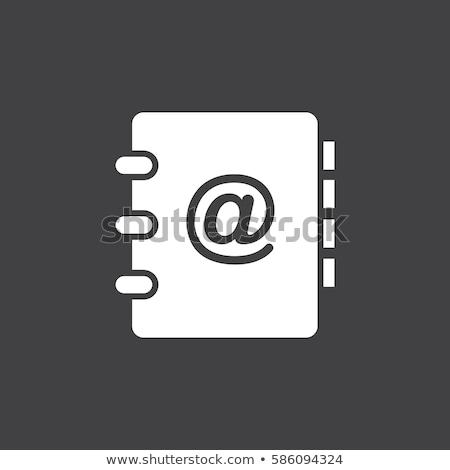Fehér címkönyv fém spirál papír háttér Stock fotó © adamr