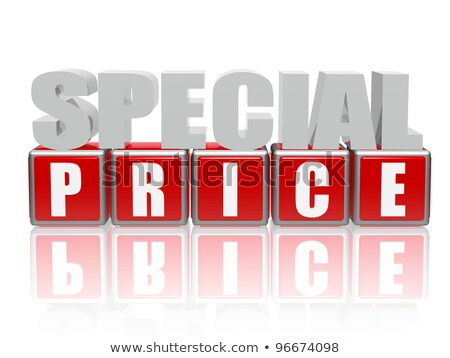 special price - letters and cubes Stock photo © marinini