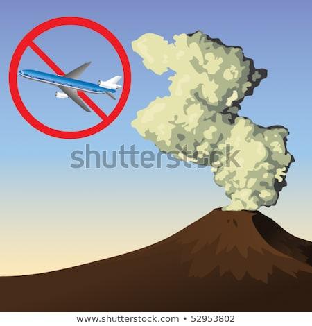 Cancelled Volcanic Ash Cloud Stock photo © sdecoret
