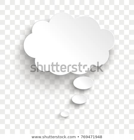 Stock photo: Speech And Thought Bubbles