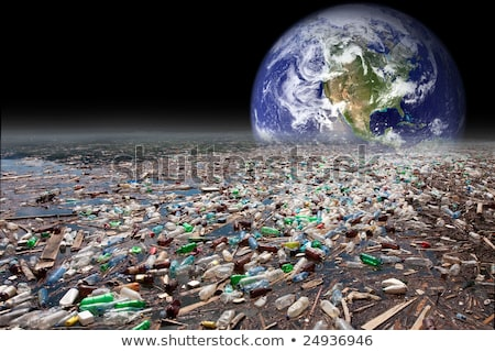 earth sinking in pollution Stock photo © smithore