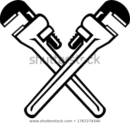 Tradesman adjusting a pipe wrench Stock photo © photography33