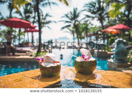 Tropicales Resort plage tropicale mer Thaïlande ciel Photo stock © PetrMalyshev