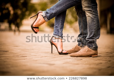 Men and women shoes silhouettes Stock photo © lkeskinen