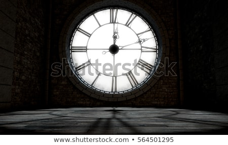 Stock photo: behind clock