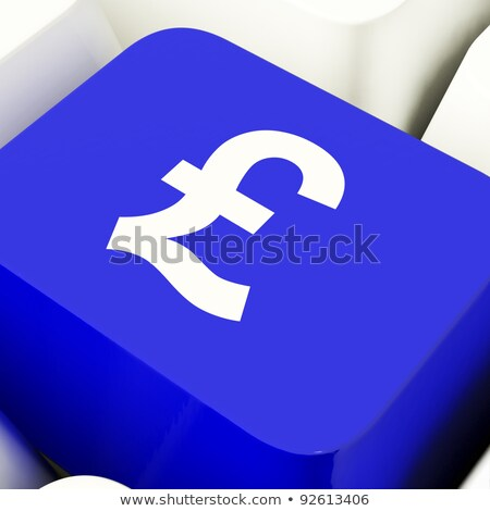 Pound Symbol Button In Blue Showing Money And Investment Stock photo © stuartmiles