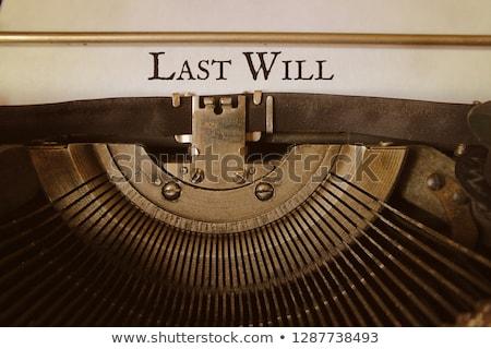 Last will and testament stock photo © antonprado