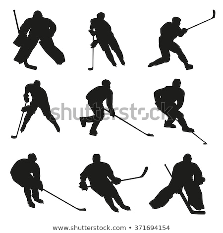 Ice hockey silhouettes set Stock photo © Kaludov
