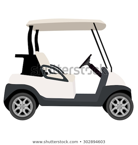 Electrical golf car on isolated white background. Vector illustr Stock photo © leonido