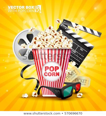 Stockfoto: Pop · mais · film · ticket · illustratie · emmer