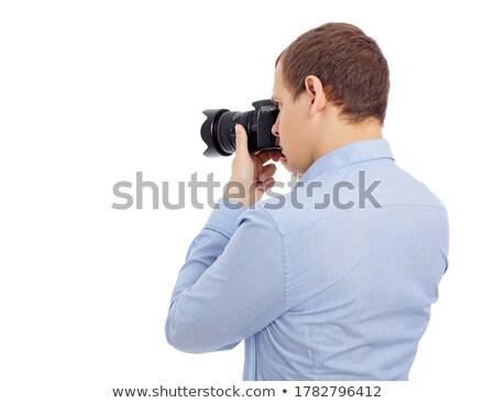 вид сзади профессиональных dslr камеры тело изолированный Сток-фото © Arsgera