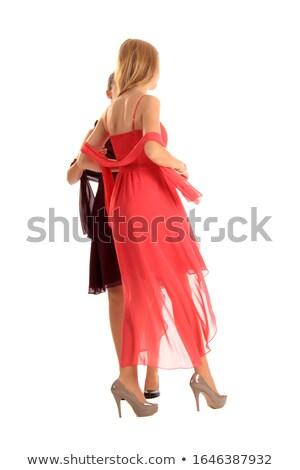 красивой · ног · черный · кожа · сапогах · женщину - Сток-фото © dolgachov