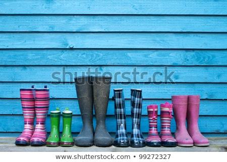 chaussures · famille · trois · faible · noir · blanche - photo stock © oneblink