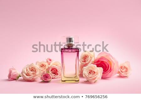 femme · parfum · belle · femme · cheveux · longs · fille · main - photo stock © oneblink