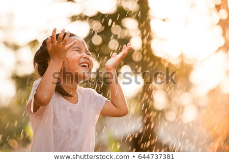 çocuk oynama su genç yüz mutlu Stok fotoğraf © chrisroll