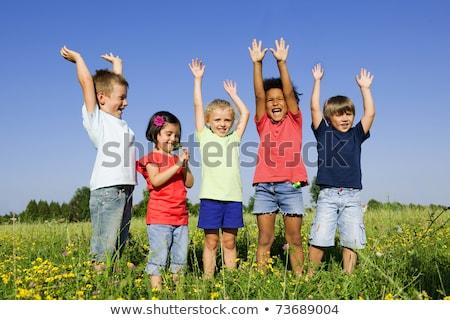 Spontaneous cheerful child stock photo © foto-fine-art