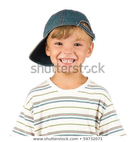 Cheerful grinning little boy stock photo © foto-fine-art