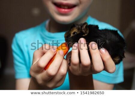 fiatal · srác · sárgarépa · alulról · fotózva · kilátás · fiatal · szőke · nő - stock fotó © foto-fine-art